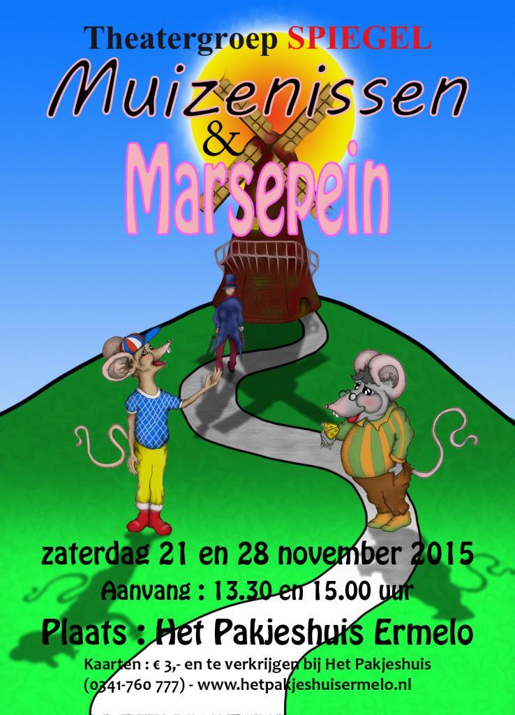 Muizenissen & marsepein flyer ww.theatergroepspiegel.nl