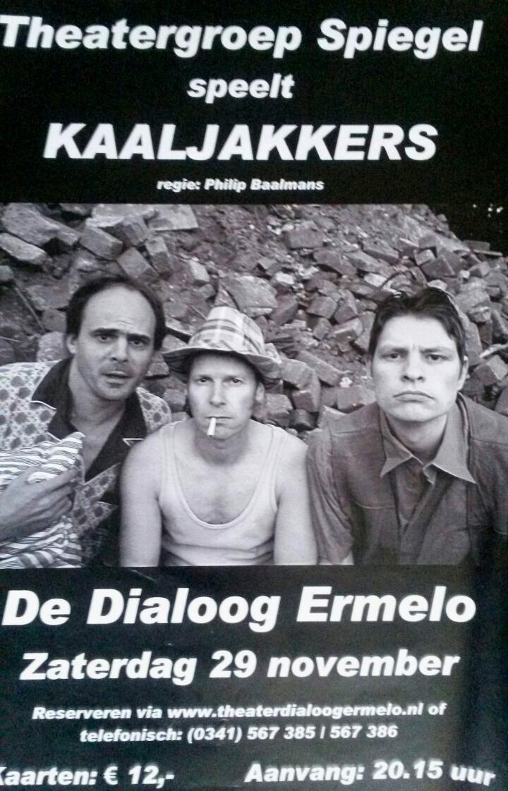 Poster Kaaljakkers Theatergroep Spiegel